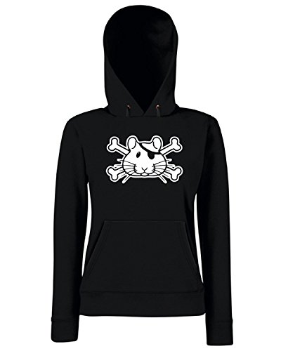 T-Shirtshock - Sweats a capuche Femme FUN0756 bhampiratenotxov rectangular cocktail plate Noir