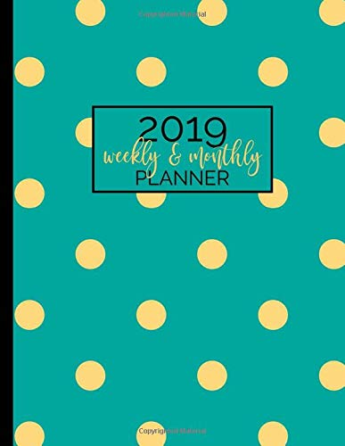hly Planner: 12-Month Agenda and Organizer with Inspirational Quotes - Teal Print (Modern Polka Dot Series, Band 4) ()