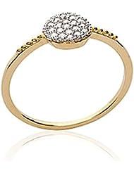 ISADY - Rovana Gold - Bague femme - Plaqué Or 750/000 (18 carats) - Oxyde de Zirconium