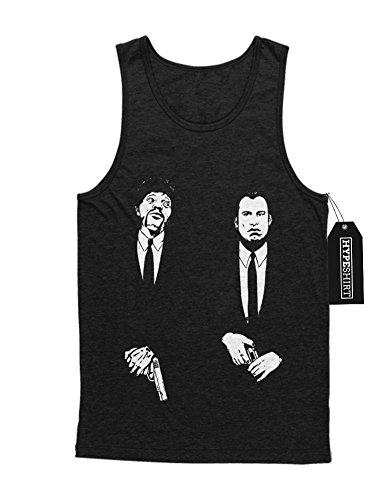 Tank-Top Pulp Fiction Vincent Vega and Jules Winnfield C123444 Schwarz (Kostüme Und Vincent Jules Vega Winnfield)