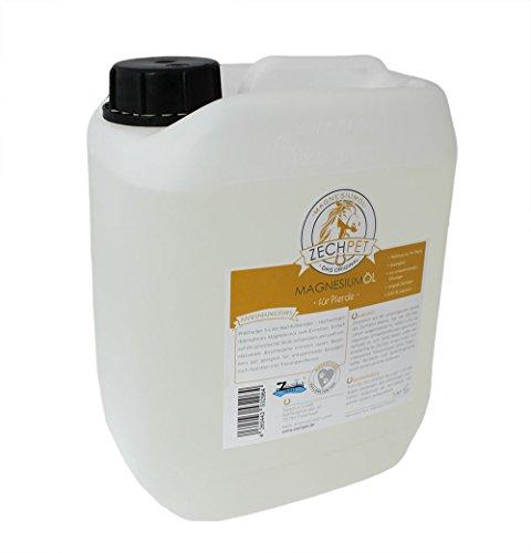 Preisvergleich Produktbild ZECHPET Fettfreie Pferdepflege – Pferde massieren mit Magnesiumöl – 5L Nachfüllkanister zum Vorteilspreis