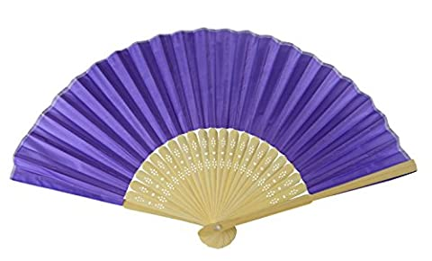 Rangebow® SHF15 Silk Gewebe Handfächer Royal Purple,