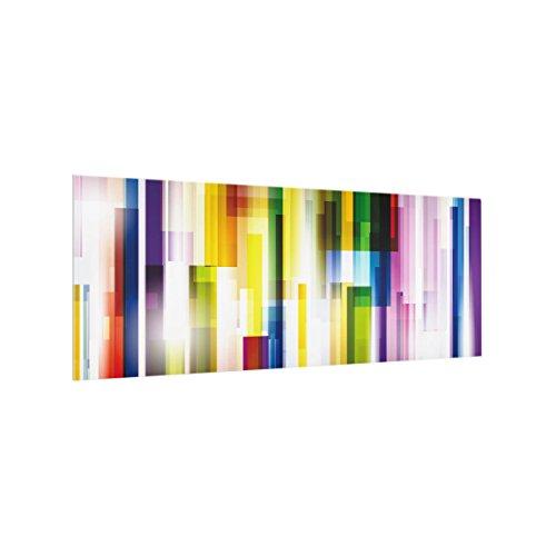 Elektro-potpourri (Bilderwelten Spritzschutz Glas - Rainbow Cubes - Panorama Quer, HxB: 50cm x 125cm)