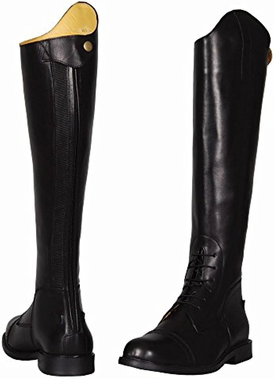 TuffRider hombres del barroco campo botas, negro, 85 amplia  -