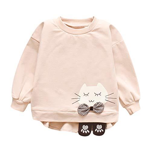 DIASTR Kinderbekleidung Mädchen Langärmelige Oben Rundhals-Cartoon Oben Unten Shirt Kinder Tragen übersteigt Sweatshirt Pullover(6m-3t) -