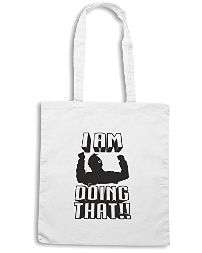 T-Shirtshock - Borsa Shopping FUN0265 11 08 2013 I Am Doing That T SHIRT det Bianco