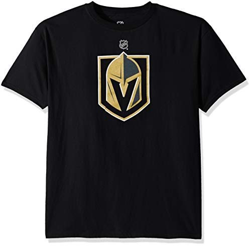 NHL by Outerstuff NHL Las Vegas Golden Knights Kids & Youth Boys Primary Logo Basic Short Sleeve Tee, Black, Youth X-Large(18)