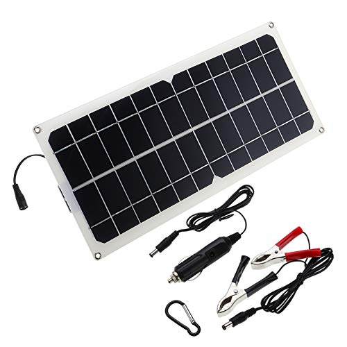 ExcLent Monocrystalline Silicon Cell Solar Panel Double Usb Interface 10W 12V/5V Dc Crocodile Solar Panel -
