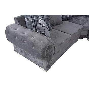 Verona, Fabric, Grey, 2C2 Corner