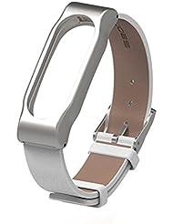 Xiaomi Mi Band2 Ersatz Ollivan® Leder Metall Handgelenk Armband Bracelet für Xiaomi Mi Band2