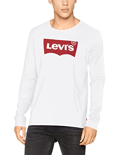 Levi's Herren T-Shirt LS Graphic Tee-B, Weiß/Hm Ls Better White 0010, 2X-Large (Xxl 2x T-shirt)
