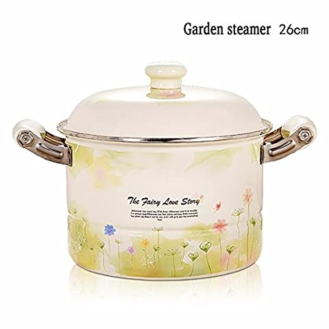 XiangYan Multifunctional thick enamel steamer binaural deep stockpot large capacity gas cooker (Gas Naturale Frigoriferi)