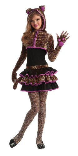 Karneval Kinder Kostüm Leopard Kleid als Tier verkleiden Größe M (Kinder Leoparden Kostüme)