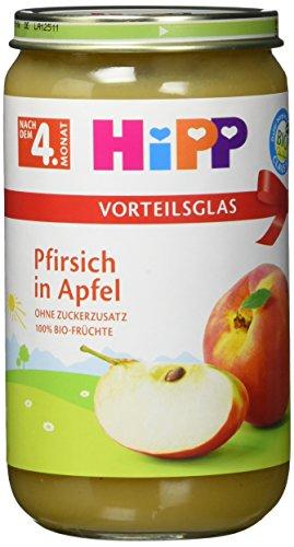 Hipp Früchte; Pfirsich in Apfel, 6er Pack (6 x 250 g)