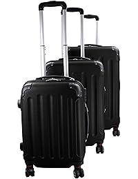 Maletín para maletas de viaje ABS Hard Protective Case EXPERIENCIA 2.0 en diferentes tamaños y colores también como un conjunto de 3 por BB Sport 4 x 360 ° Ruedas Dobles M L XL Equipaje de 3 piezas, Color:diamond black;xs s m l xl xxl xxxl GRÖßE:XL