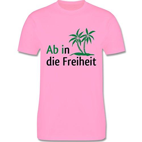 Abi & Abschluss - Ab in die Freiheit - Herren Premium T-Shirt Rosa