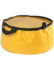Sports de plein air pliable Lavabo Lavabo Footbath sac d'eau évier, Jaune
