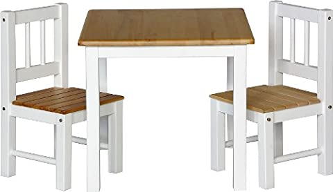 IB-Style - Children's seating area NOA | 3 combinations | 2 chairs + 1 table | table and chair nursery furniture kids
