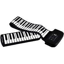 iBalody Holiday Gift 88-Keys de silicona elástica Roll Up piano principiante teclado plegable Piano
