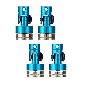 Sharplace 4X Magnetische Unsichtbare Karosserie Halterung für 1/10 Axiale SCX10 Elektrische Rc Auto - Blau