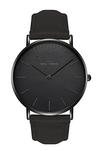New Trend - Love for Accessories Damen Uhr analog Quarzwerk mit Kunst-Leder Armband E0-GOZQ-9CHQ