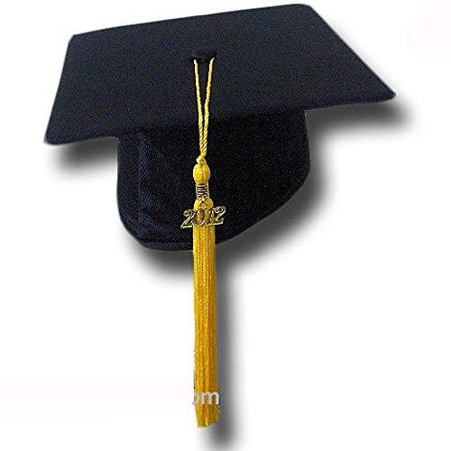 """Cappello da laurea """"Tocco"""" Basic Grad Hat (GIALLO)"""