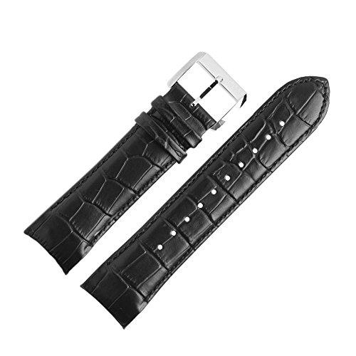 Hugo Boss Uhrenarmband 24mm Leder Schwarz - 659302495