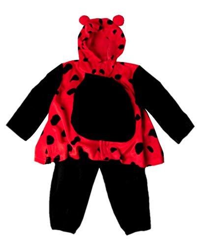 KarnevalsTeufel Kinderkostüm Marienkäfer, 2-teilig Jacke und Hose, Marienkäfer-Anzug | Größe 92 - 140 | Tierkostüm, Karneval, Kindergeburtstag - Krabbeltiere Kostüm