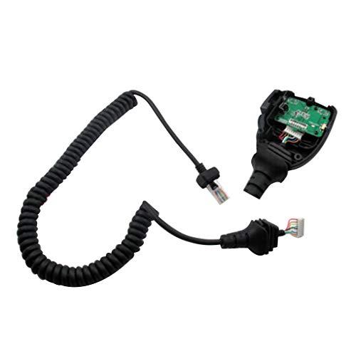 fish Ersatz für HM-152 ICOM Funkmikrofon IC F121 / S IC F221 / S IC F221 IC F520 Mic Mikrofonkabel Black Show