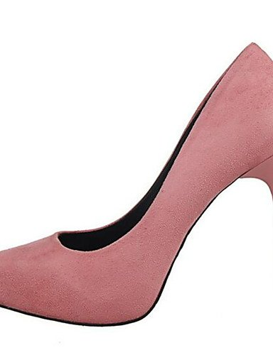 WSS 2016 Chaussures Femme-Habillé-Noir / Rose / Rouge / Gris / Kaki-Talon Aiguille-Talons-Talons-Synthétique black-us7.5 / eu38 / uk5.5 / cn38