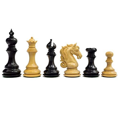 Die Kavallerie-serie Luxus Schachfiguren Ebenholz 10.8cm