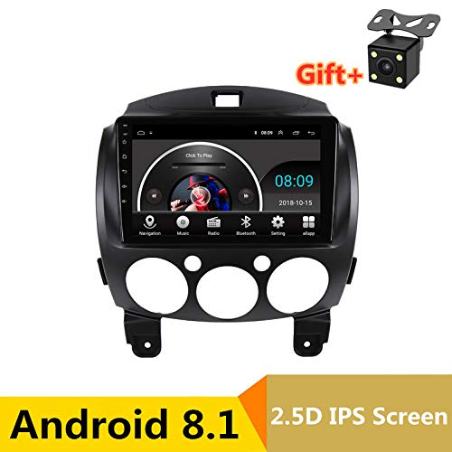 22,9 cm 2.5D IPS Android 8.1 Auto DVD Multimedia Player GPS für Mazda 2 2007 2008 2009 2010 2011 2012 Audio Radio Stereo Navigation (Radio Mazda 2011 2)