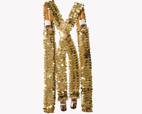 Dress Up America Herren Gold Pailletten - Clown Kostüm Band