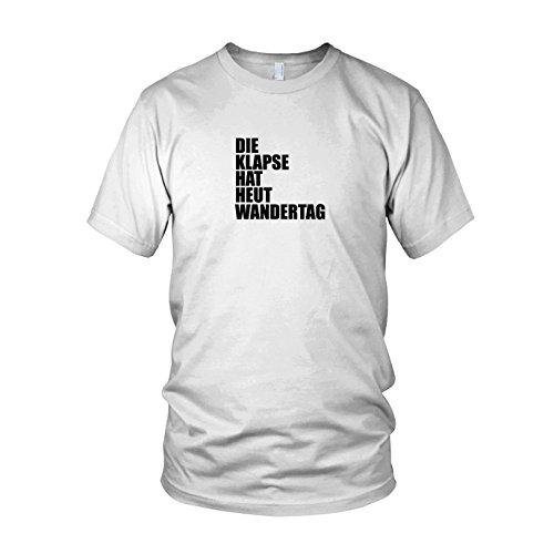 Die Klapse hat heut Wandertag - Herren T-Shirt Weiß