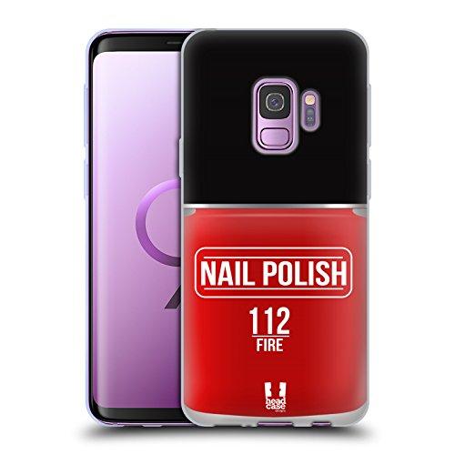 Head Case Designs Feuer Nagellack Soft Gel Huelle kompatibel mit Samsung Galaxy S9