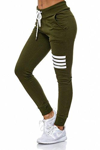 BELLIS® Damen Hose Jogginghose Sporthose Freizeithose /XS-XXL/ G-699014 Kale-White