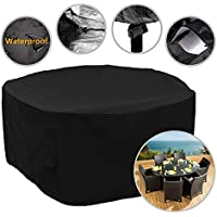 Garden Furniture Cover 76-Inch Outdoor Round Patio Furniture Set Cover 193x80cm