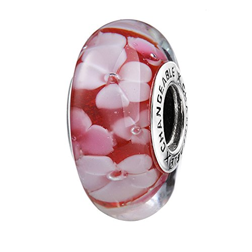 Changeable bead charm per donne fascino charms argento sterling 925 rosa rose d'epoca mente felice