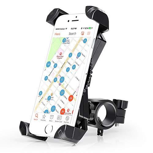 Amoner Fahrrad Hanyhalterung Motorrad Fahrrad Handyhalter Universal für 20-35mm Fahrrad-Lenker Handyhalter Wiege Klammer Mit 360 Drehen für 50-195 mm Smartphone GPS Andere Geräte (Iphone 4 Weihnachts-fall)