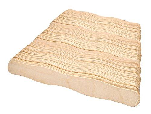 Mandala Crafts 20,3cm Jumbo gewellt Holz Sticks Fan Griffe für Projekte Auktion bieten Paddel Kirche Hochzeit Programm 300 Piece Count