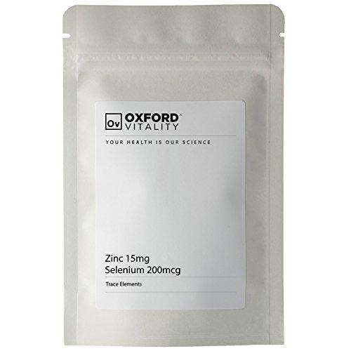 Oxford Vitality - Comprimés Zinc 15mg et Sélénium 200mcg