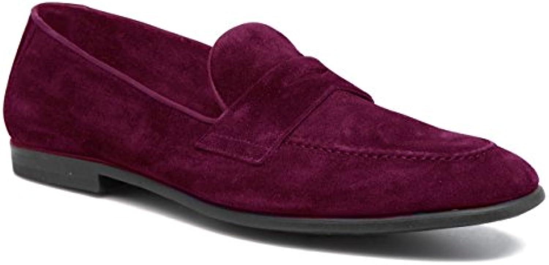 11sunshop Giacomo Klassisches Modell Schuhe in Wildleder und Leder Design von HGilliane in 33 bis 46