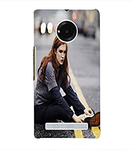 Fuson 3D Printed Model Wallpaper Designer Back Case Cover for Yu Yuphoria - D750