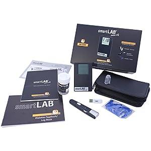 smartLAB mini nG Blutzuckermessgerät mg/dL Starterset | Blutzuckermesssystem im Scheckkartenformat ideal für Unterwegs | NUR mit smartLAB nG Teststreifen | Blutzuckermessen für Diabetiker mit smartLAB
