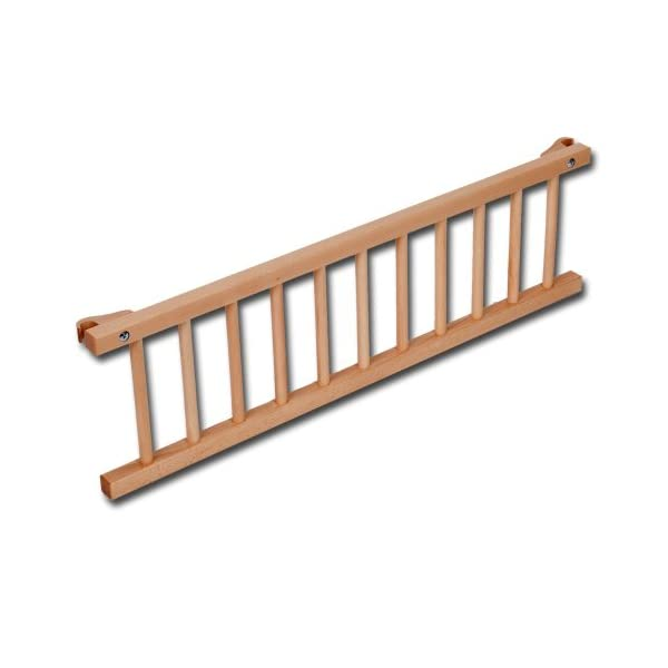 babybay maxi drop-side, core beech oiled Tobi Attaches quickly and easily Safe, sturdy and robust Made entirely of natural, antibacterial and antistatic book timber 1
