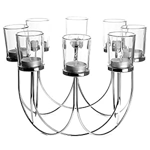 8 Porta té de cristal | Candelero | Decoraciones de mesa de comedor | Centro de mesa de decoración de la boda…