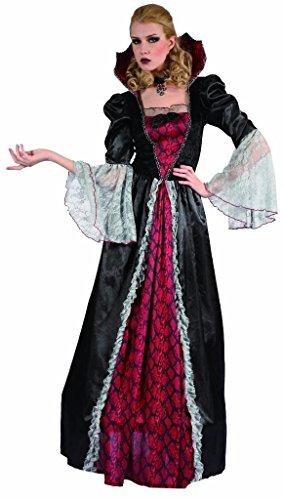 Gothic Kostüme Vampirin Erwachsene (YOU LOOK UGLY TODAY Karneval Halloween Vampir Kostüme Costumes für Damen Erwachsene - M/L -)