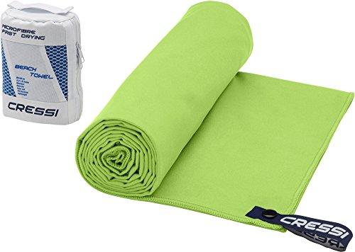 Cressi Microfibre Fast Drying Toalla de Sport, Unisex Adulto, Verde, 50x100