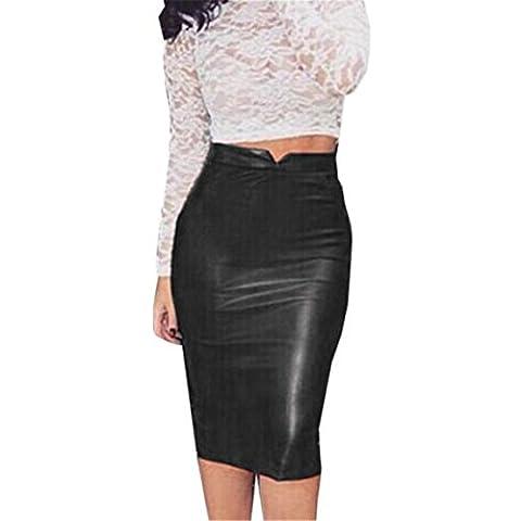 Vovotrade ❤❤2017Heiß !!!Frauen lederner Rock hoher Taille dünner Partei Bleistift Rock (M, (Square Pants Kostüm)