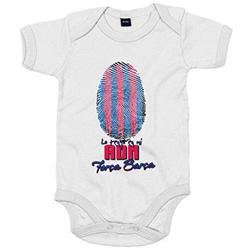 Body bebé lo tengo en mi ADN Barcelona fútbol - Blanco, 6-12 meses